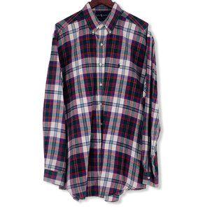 Polo by Ralph Lauren Mens XL Green Plaid Flannel